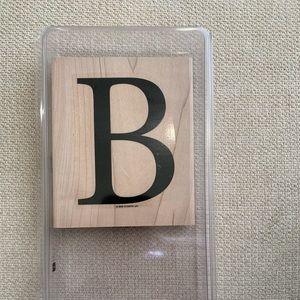 Stampin' Up Monogram B Stamp